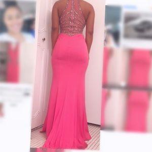 Tiffany Designs Dresses - Tiffany Designs Bright Pink Prom Dress